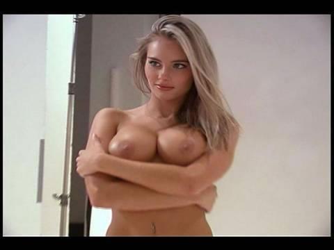 Big natural tits massage